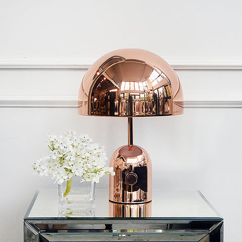 Halo Rose Gold Dome Table Lamp