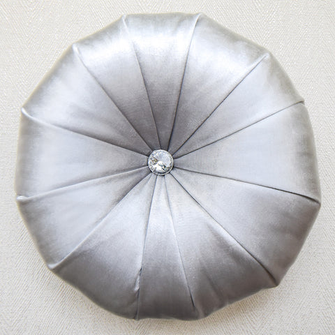 Round Cushion, Satin Silver