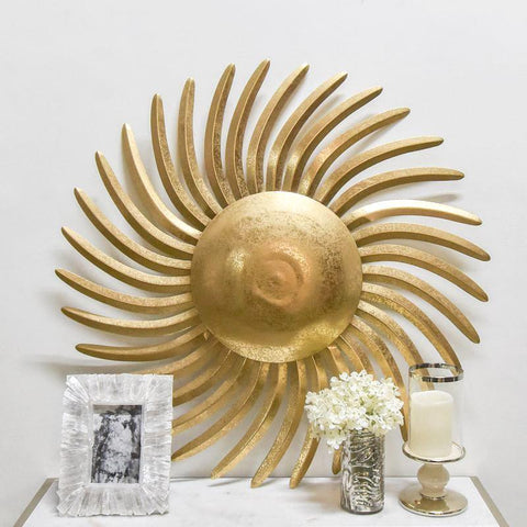 Soleil Gold Sunburst Wall Decor