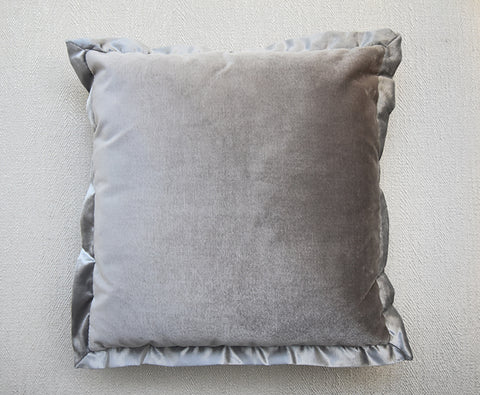 Taupe Silver Flanged Cushion