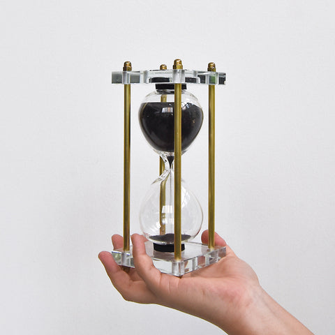Temps Acrylic Hourglass, Gold Accent Stand
