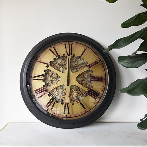 The Grand Station Gear Wall Clock