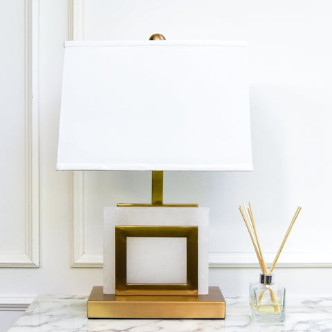 The Hyde Alabaster Table Lamp