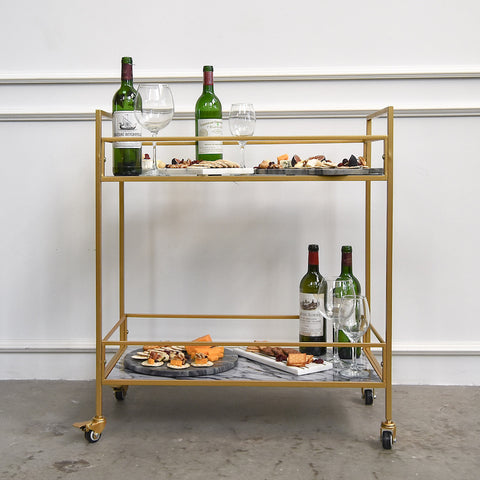 The Plaza Cart Trolley, Rect, 2-Tier