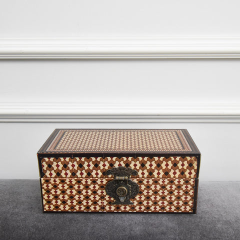 Decor - Brown Print Nesting Box