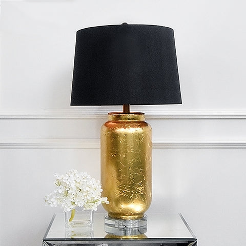 Gold Metal Table Lamp displayed at showroom in Singapore-based Furniture and Home Accessories Online Store