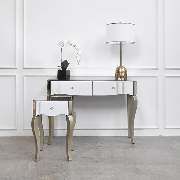 uk availability 42423 b07b2 Vedette Victorian Mirrored Console Table