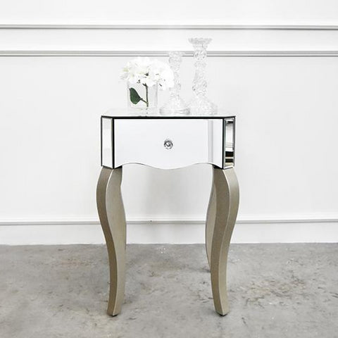 Vedette Victorian Mirrored End Table