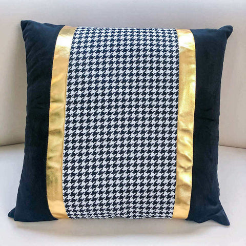 Veneta Gold Black Tweet Cushion