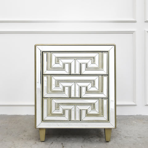 Venetian Mirrored Side Table
