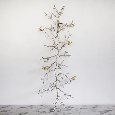 Wall Art Decor Sculpture with Branches & Birds