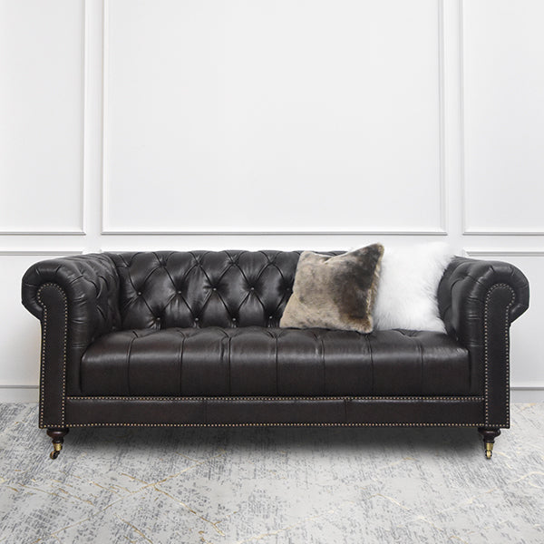 Yorkshire Leather Chesterfield Sofa, 3-Seater | Finn Avenue – FINN ...