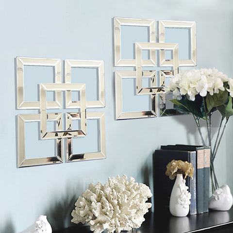 Wall Mirror Art inspiration - Mirrored Fretwork Panels