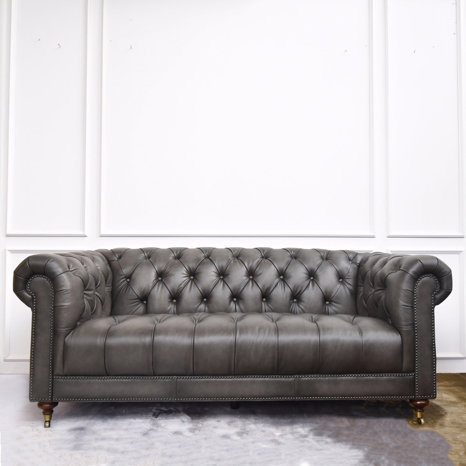 Yorkshire Leather Chesterfield Sofa 3 Seater Finn Avenue Finn