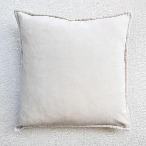 Light Sand Velvet Down Feather Cushion