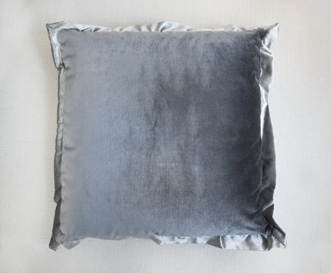 Grey silver flanged cushion
