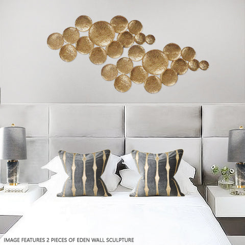 Gold wall art for home interior feature walls
