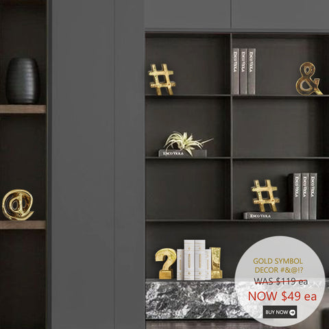 Gold Decor & Bookend, '#' Symbol
