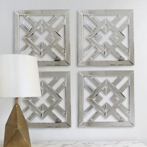 Wall Art inspiration - Mirrored Fretwork Panels