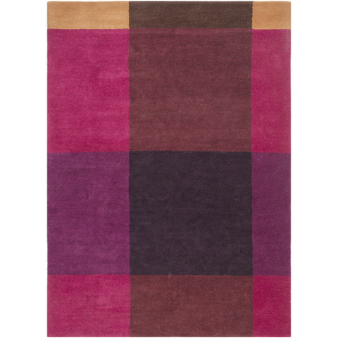 Ted Baker Rug Collection: Plaid Burgundy Rug