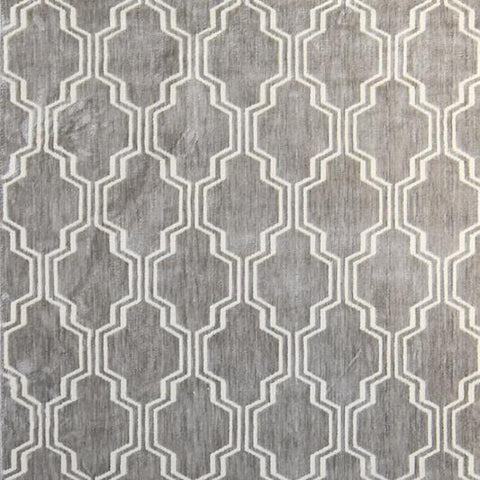 Quinn Geometric Rug, Warm Grey, 155cm by 230cm