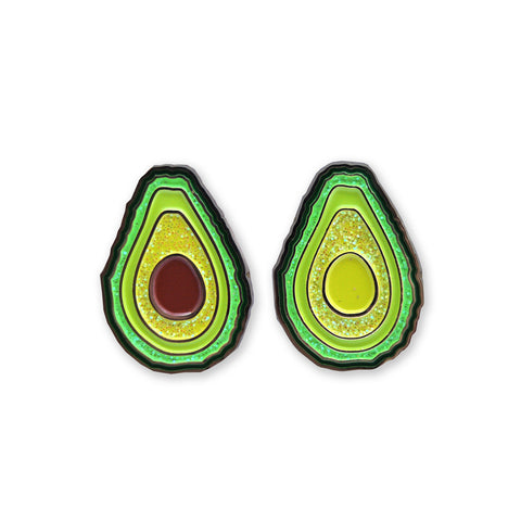 Green Gold - Avocado two pin set - Black Metal Edition - Pin - Easily Amused - 1
