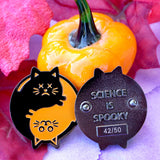 Schrodinger's Yin Yang  - Fall Variant - Pin - Easily Amused - 3