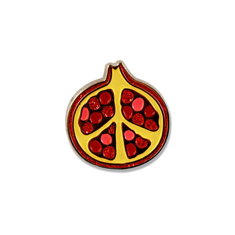 Peace-granate - Pomegranate Pin - Pin - Easily Amused - 1