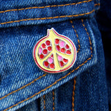 Peace-granate - Pomegranate Pin - Pin - Easily Amused - 3