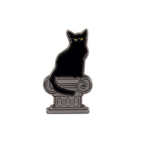 Kitty On A Pedestal - Pin - Easily Amused - 1