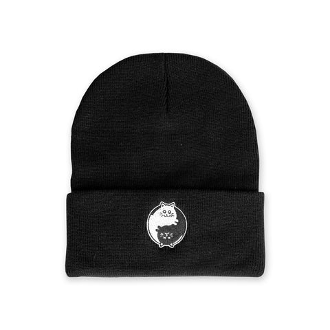 Schrodinger's Yin Yang Beanie - Headwear - Easily Amused
