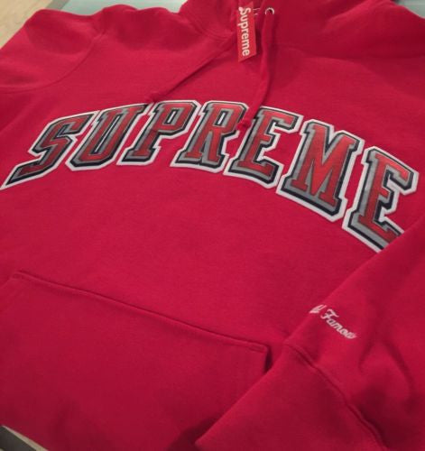 Supreme Chrome Arch Hoodie - Red (2015)