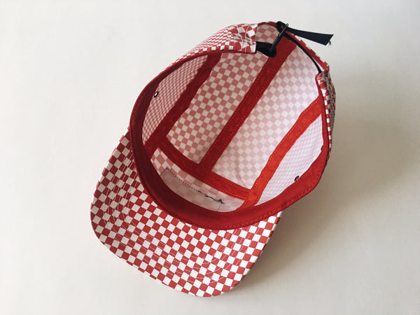 Supreme Checkered 5-Panel Cap - Red