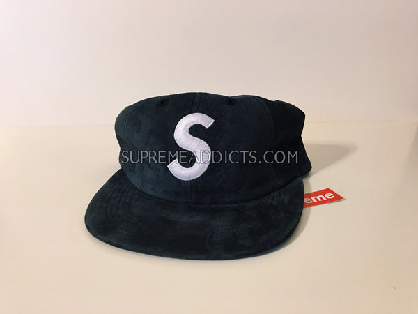 Supreme Suede S Logo Cap - Navy – SUPREME ADDICTS 1c9edc46922