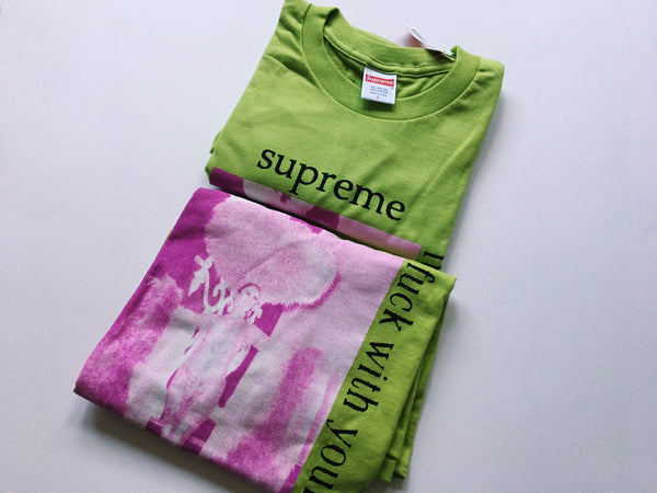 Supreme Fuck With Your Head Tee - Lime