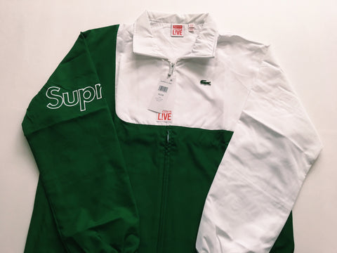 Supreme x Lacoste Track Jacket - Kelly Green