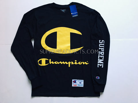 Supreme / Champion LS Tee Shirt - Black