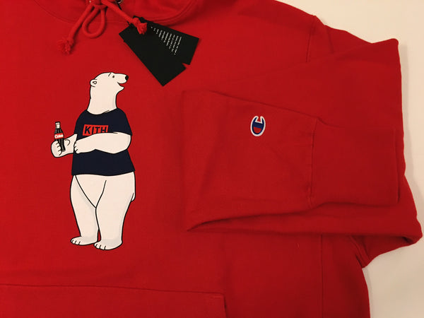 KITH / Coca-Cola Polar Bear Hoody - Red