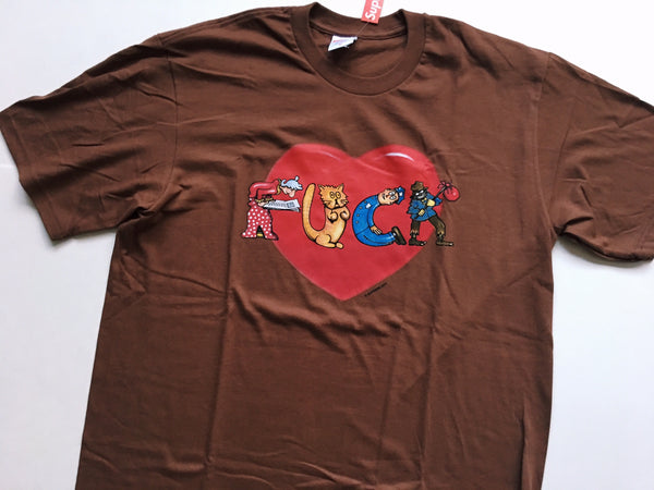 Supreme Heart Tee - Brown