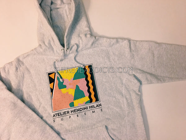 Supreme Mendini Hooded Sweatshirt - Ash Grey