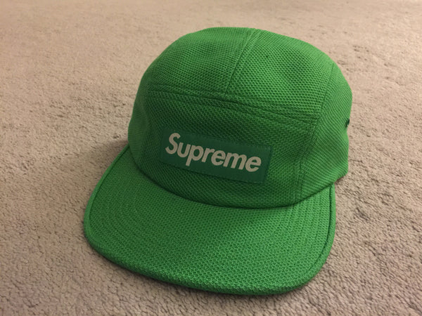 Supreme Pique Knit Camp Cap - Green
