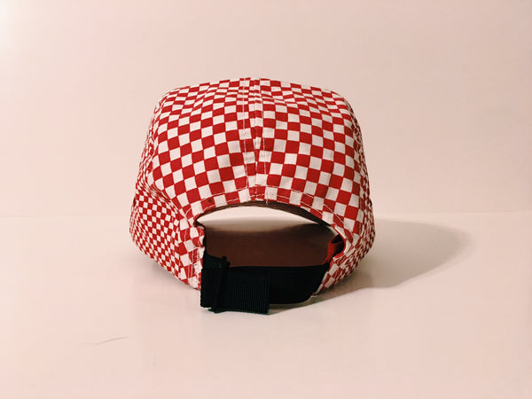 Supreme Checkered Camp Cap - Red