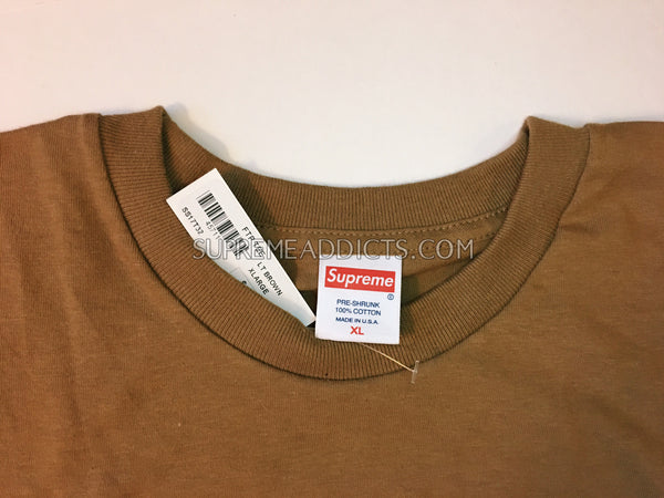 Supreme FTP Tee - Brown