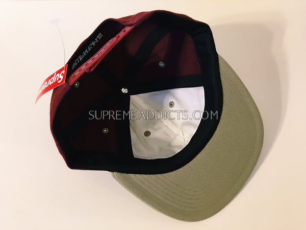 Supreme Illegal Business 6-Panel - Burgundy
