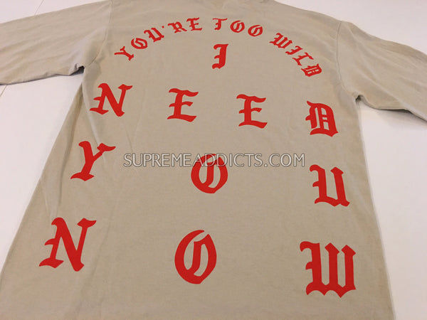 Kanye West - Meadows NYC L/S Tee - Tan