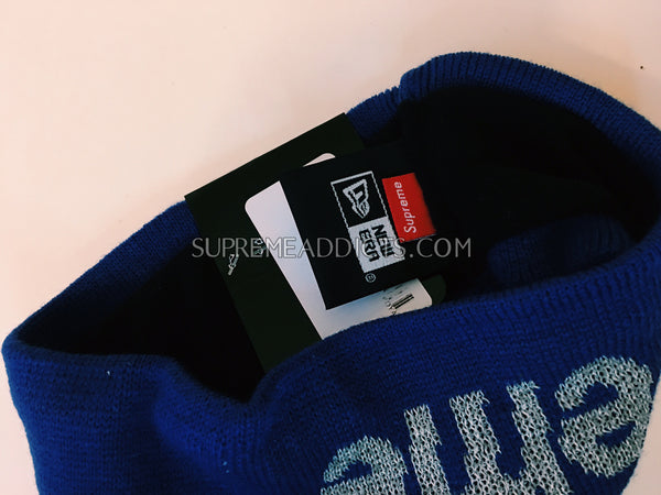 Supreme / New Era Reflective Headband - Royal Blue