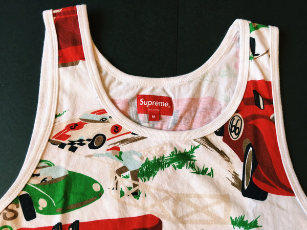 Supreme Lemans Tank Top - White