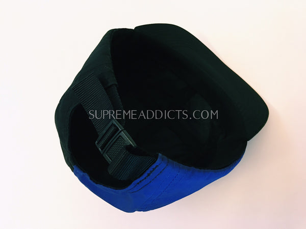Supreme Split Camp Cap - Black Blue