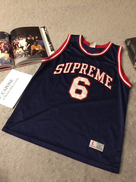 Supreme Basketball Jersey - Nets