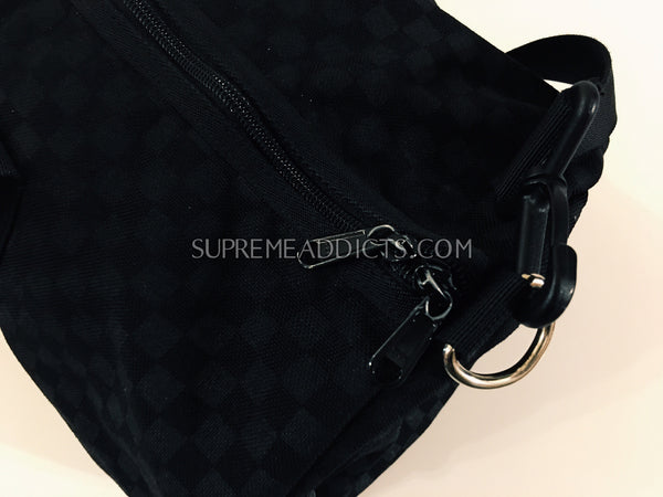 Supreme Checkered Duffel Bag - Black